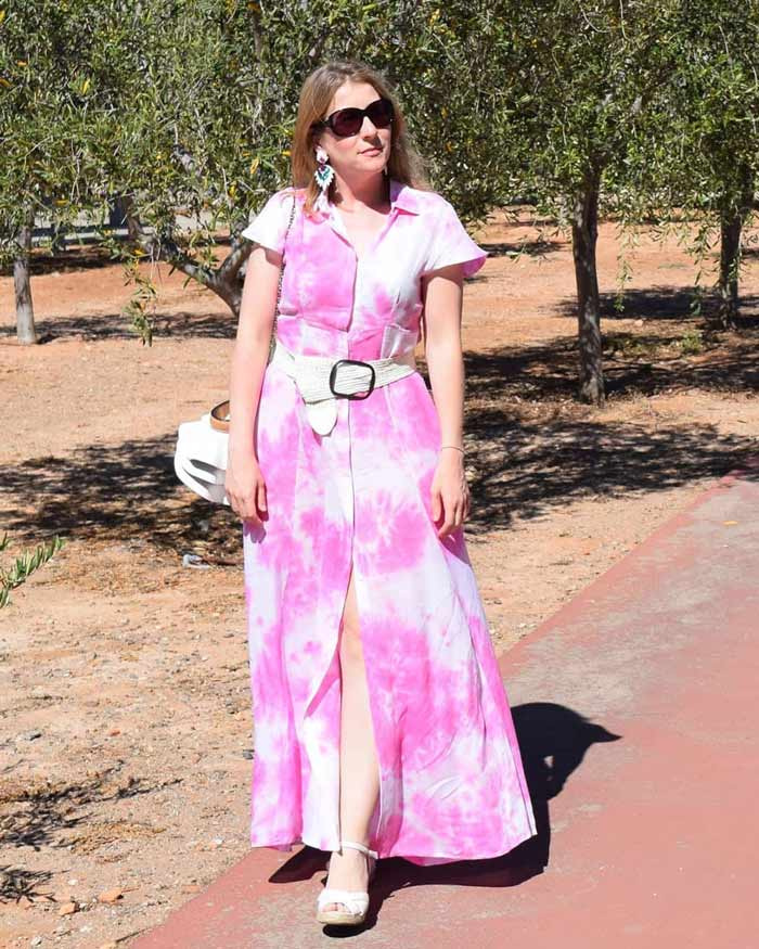 tie dye maxi dress |40plusstyle.com