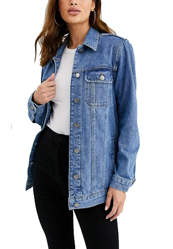 Asos denim jacket - tall womens clothing ideas | 40plusstyle.com