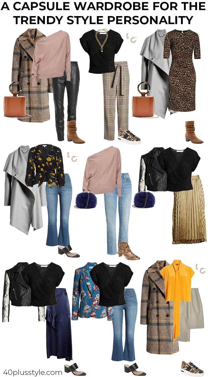 A capsule wardrobe for the TRENDY style personality | 40plusstyle.com