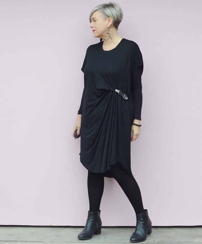 tunic over tights | 40plusstyle.com
