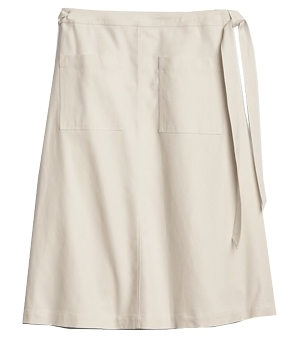 Gap patch pocket wrap skirt | 40plusstyle.com