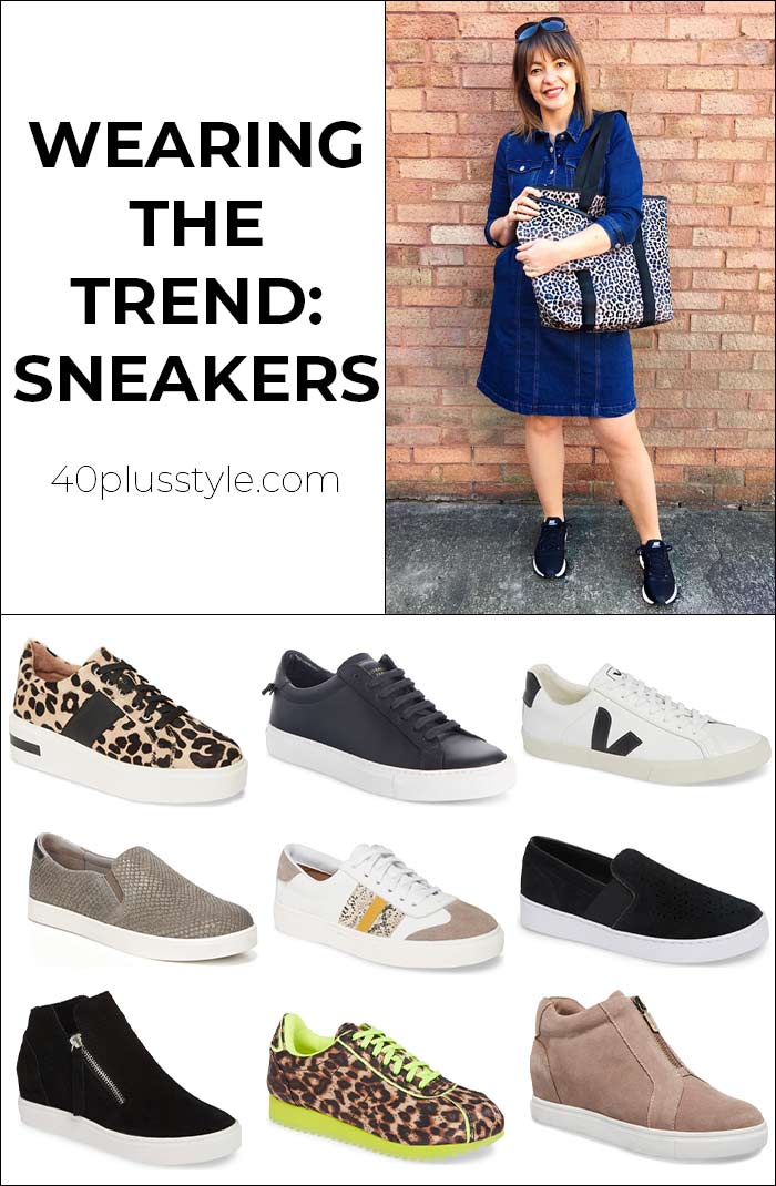 Wearing the trend: Sneakers | 40plusstyle.com