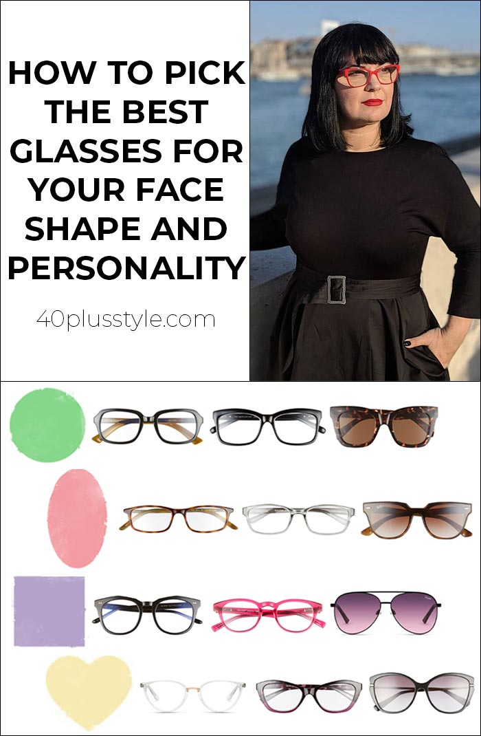 How To Pick The Best Glasses For Face Shape And Personality | 40plusstyle.com