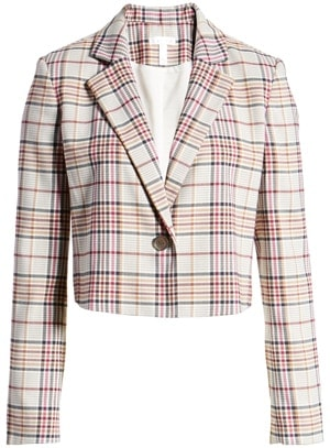 Leith plaid crop jacket | 40plusstyle.com