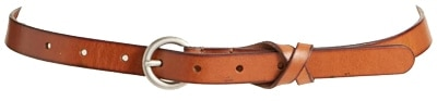 Frye skinny leather belt | 40plusstyle.com