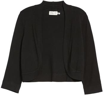 shrugs and boleros for evening dresses: Eliza J bolero cardigan | 40plusstyle.com
