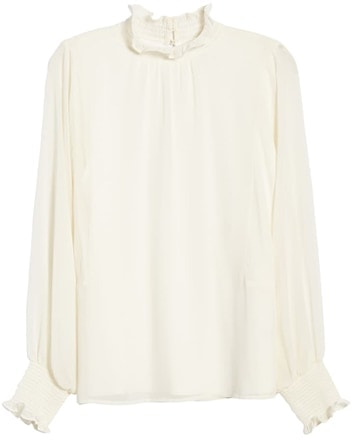 Vince Camuto batwing chiffon top | 40plusstyle.com