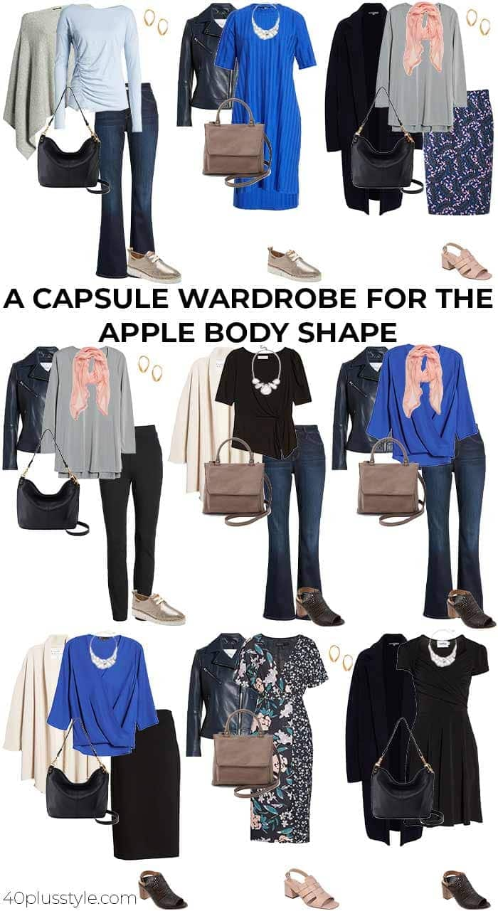 A capsule wardrobe for the apple body shape | 40plusstyle.com