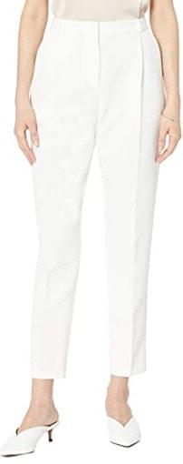 White cigarette pants | 40plusstyle.com