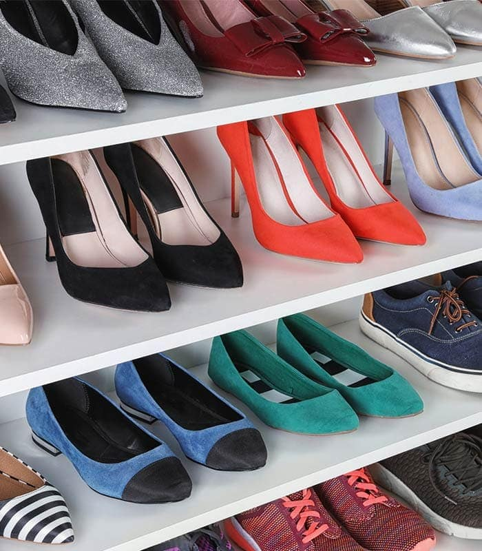 Shoe storage ideas: How to store shoes and get organized | 40plusstyle.com