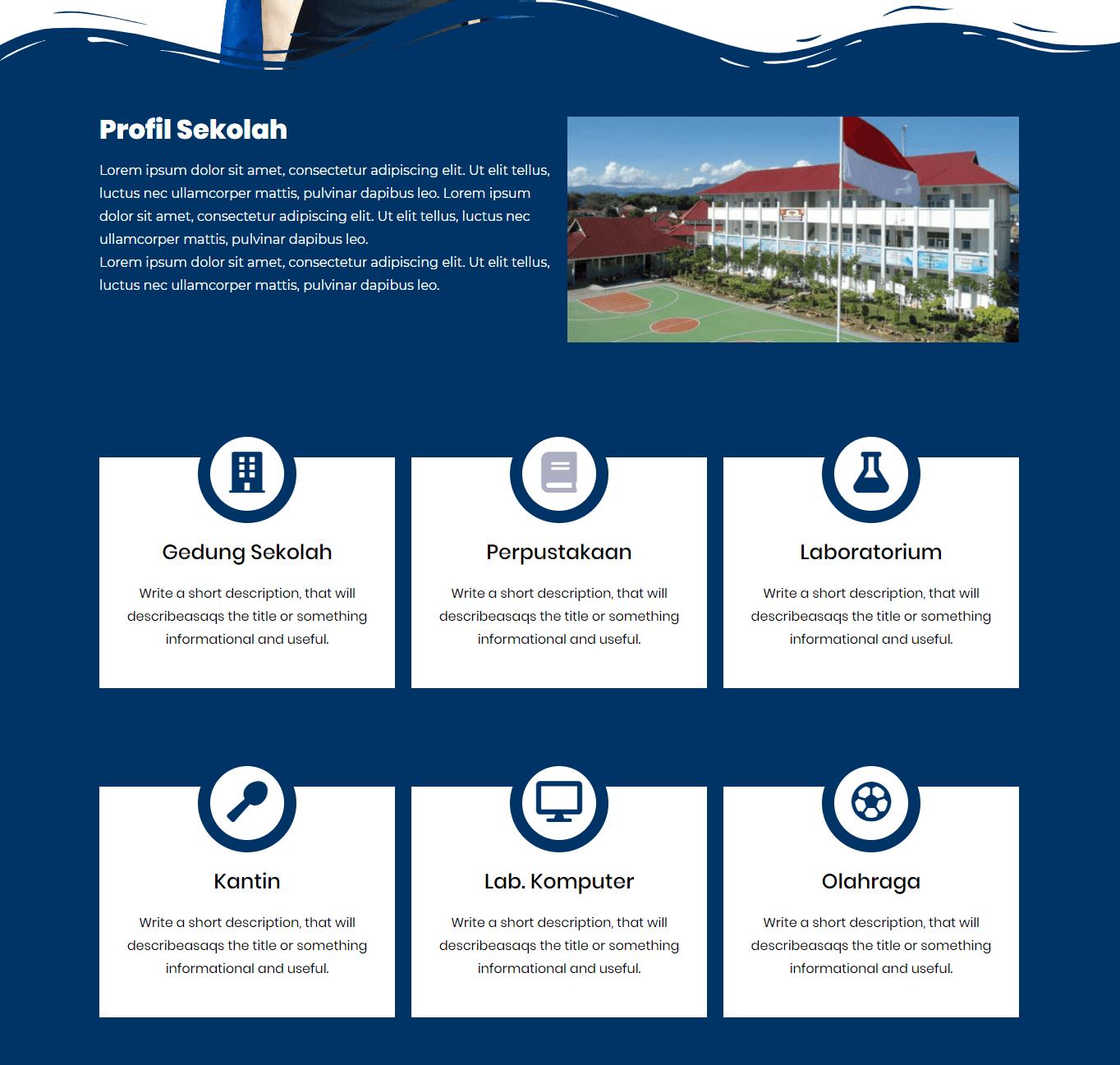 Website Sekolah Gratis – Gaya Milenial