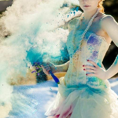 Holi-Inspired Trash the Dress Powder Session