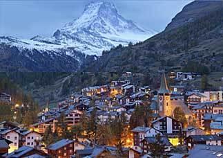 Zermatt in Switzerland, home of the Matterhorn