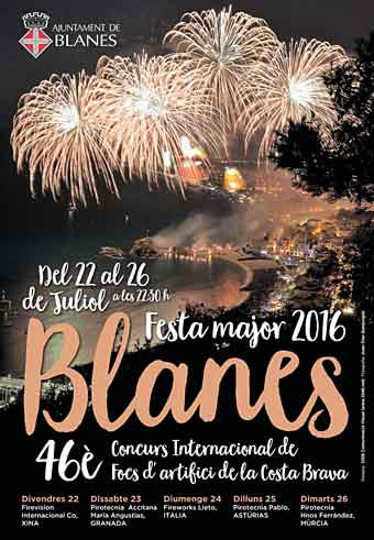 Blanes Fireworks Festival, Spain. July 2021 Cancelled