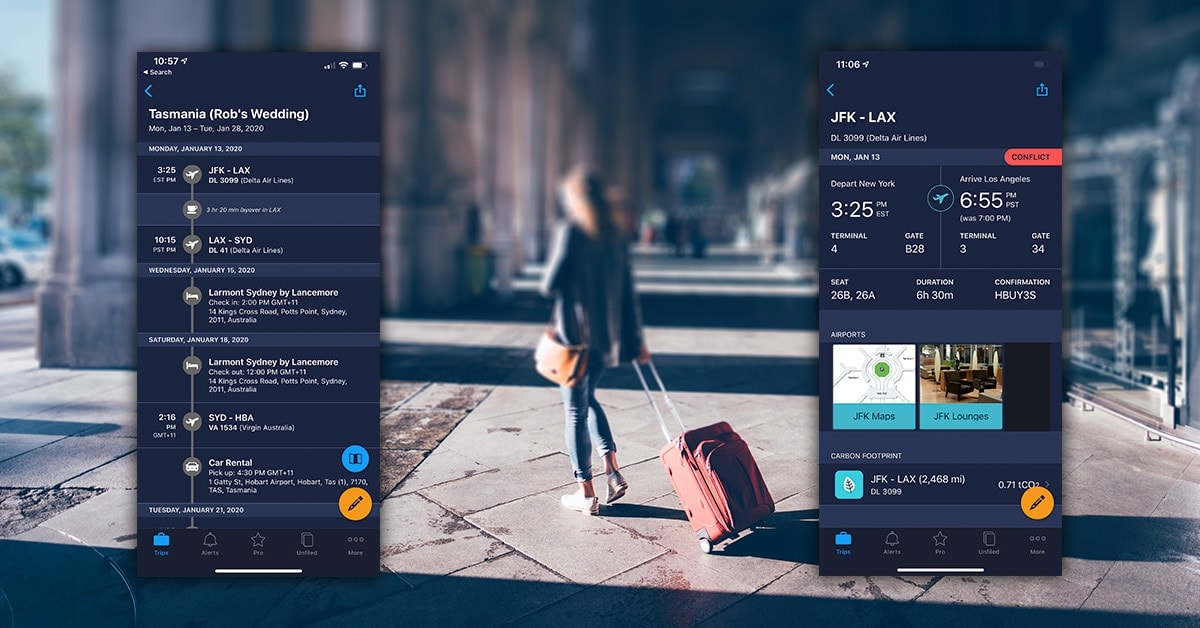 TripIt- One app to manage upcoming trips, bookings, and events