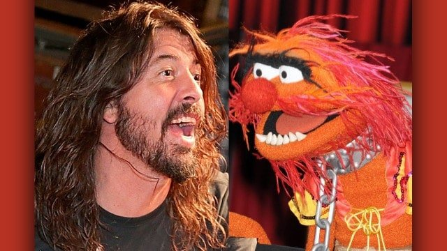 #world - Grohl vs Animal in Muppets drum-off - @Classic Rock Artes & contextos