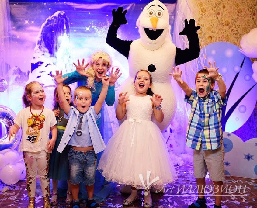 Организация и Проведение Детских Новогодних Праздников в стиле Frozen