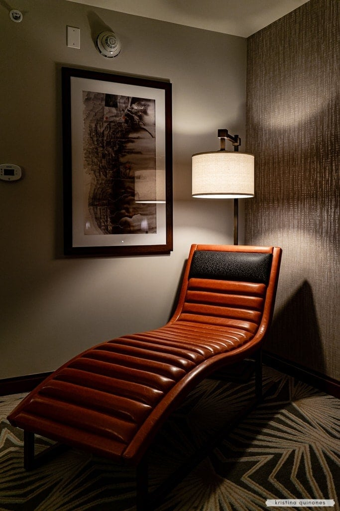 Hotel Adeline | chaise lounge in the room