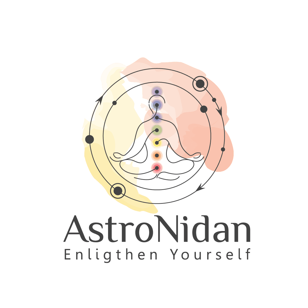 astronidan logo with name and tagline for astrology predictions, kundali matching / horoscope matching @ AstroNidan