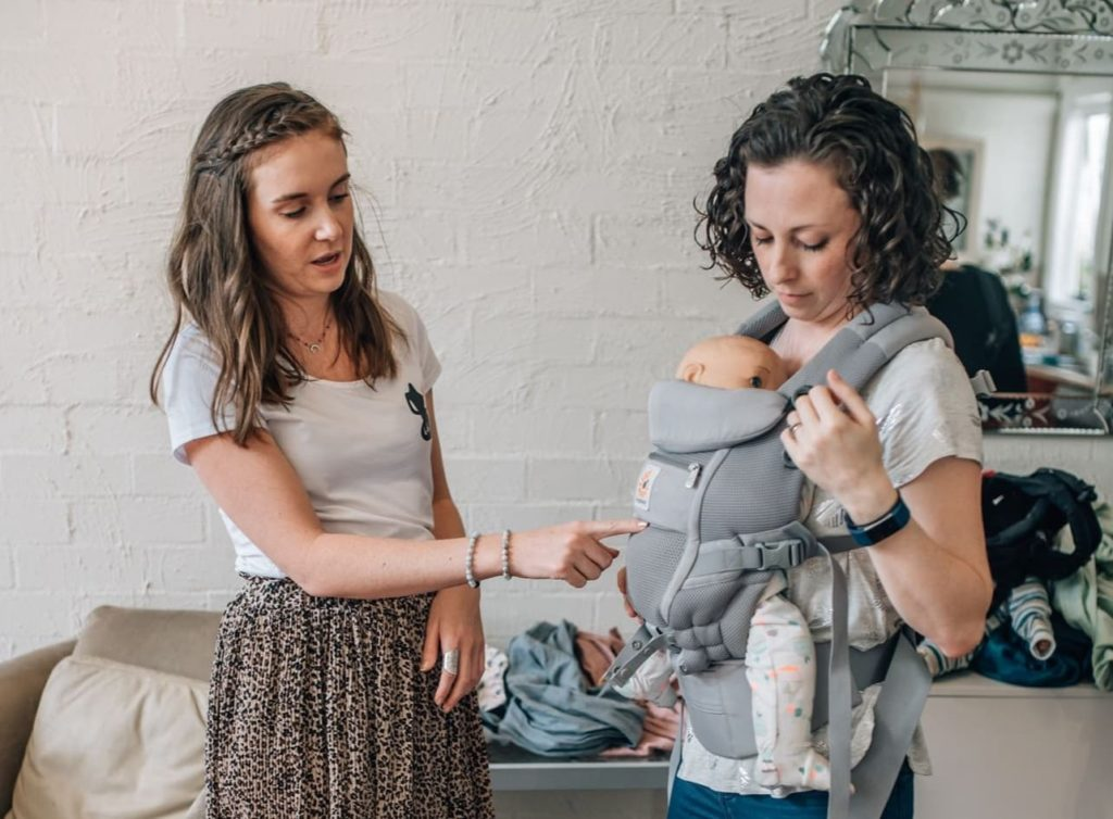 Brooke in-person babywearing consultation