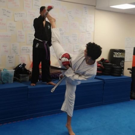 Karate Kicks in Basingstoke class