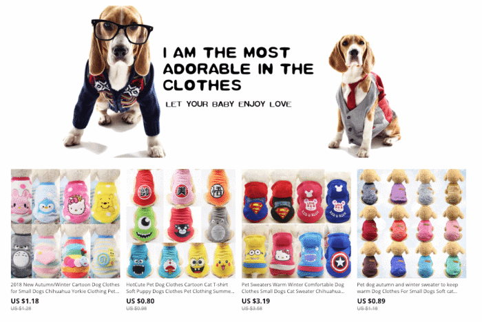 dog online clothes for sale