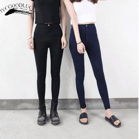 black stretch girls for casual wear