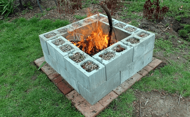 Outdoor Cinder Block Fire Pit