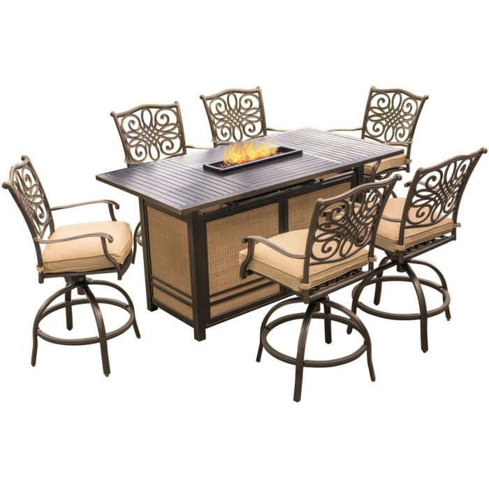 The Absolute Best Bar Height Fire Pit Table Sets Outdoor Fire Pits