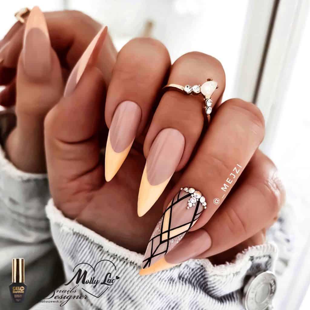 geometryczny wzór na paznokciach metoda stylizacji paznokci