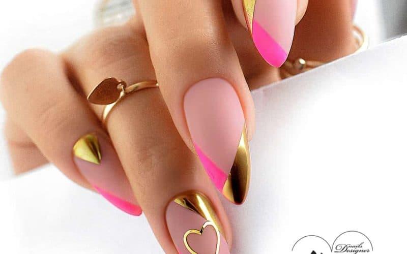 Zel Jelly Nude, Rozowy Artistic Gel Blossom Pink i złoty pyłek Exclusive Effect