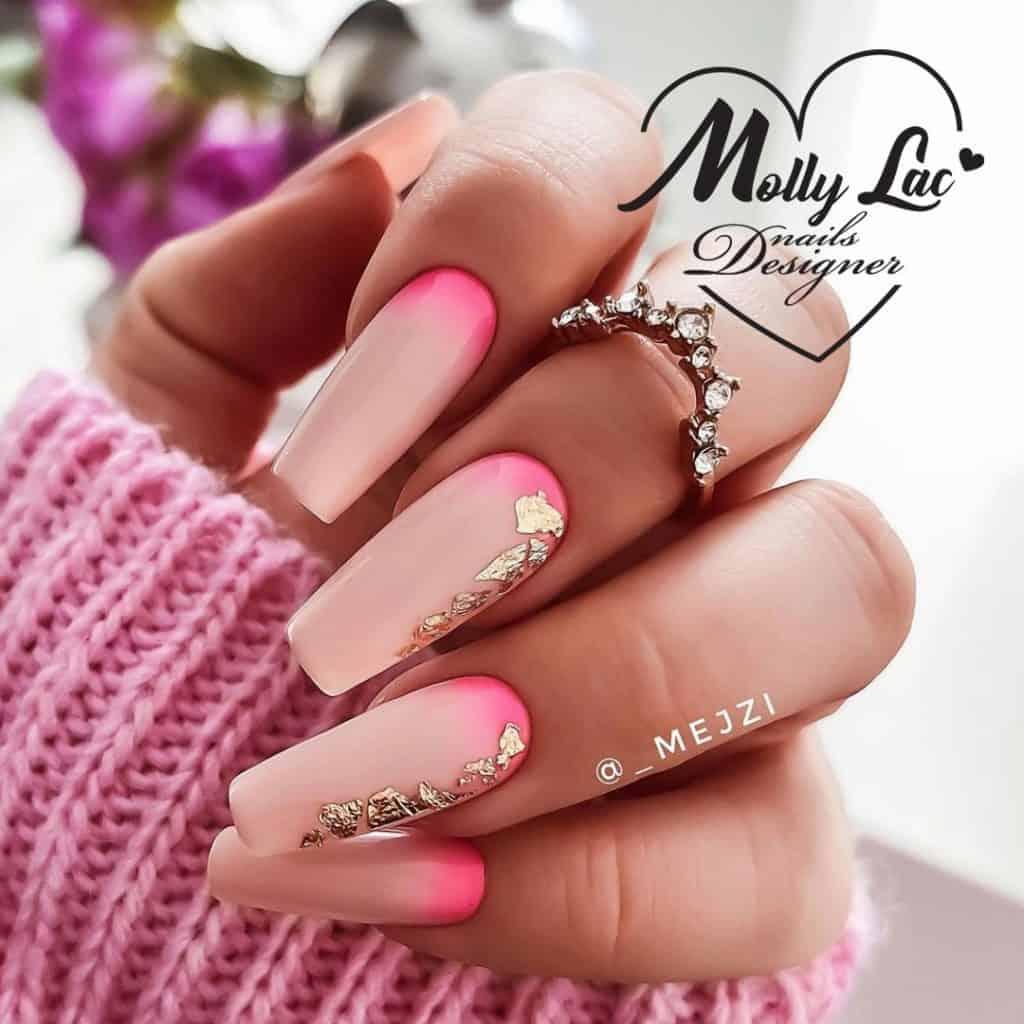 pastelowy letni manicure