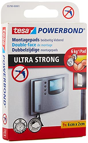 tesa Powerbond Ultra Strong Klebepads, 9 Pads