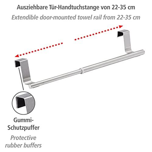 WENKO ausziehbarer Handtuchhalter für Küche und Badezimmer - 2