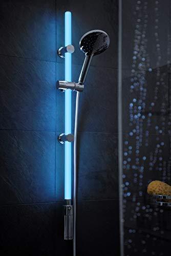 WENKO Duschstangen Set mit beleuchteter LED Duschstange - 2