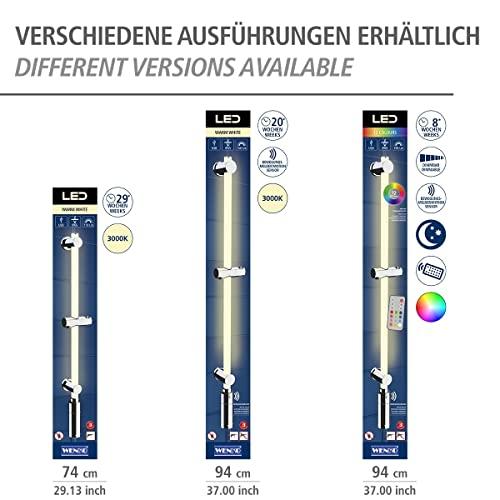 WENKO Duschstangen Set mit beleuchteter LED Duschstange - 10