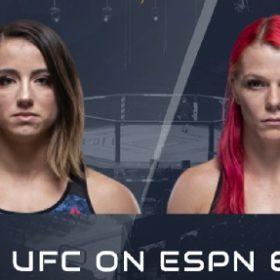 Видео боя  Мэйси Барбер — Джиллиан Робертсон / UFC on ESPN 6