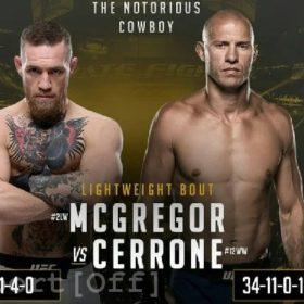 Видео боя Конор Макгрегор — Дональд Серроне / UFC 246