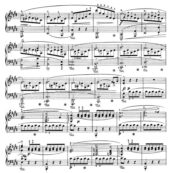 score of Chopin Scherzo No. 4