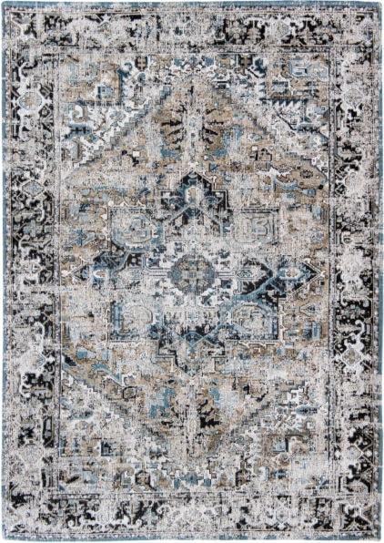 beżowo niebieski dywan klasyczny - Golden Horn Beige 8708