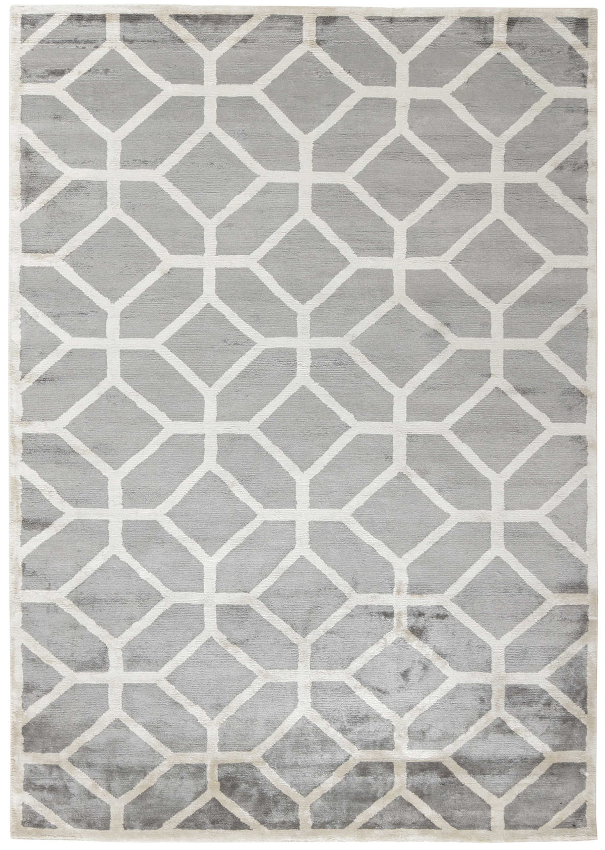 szary dywan geometryczny Cosmou Nouvea 7050