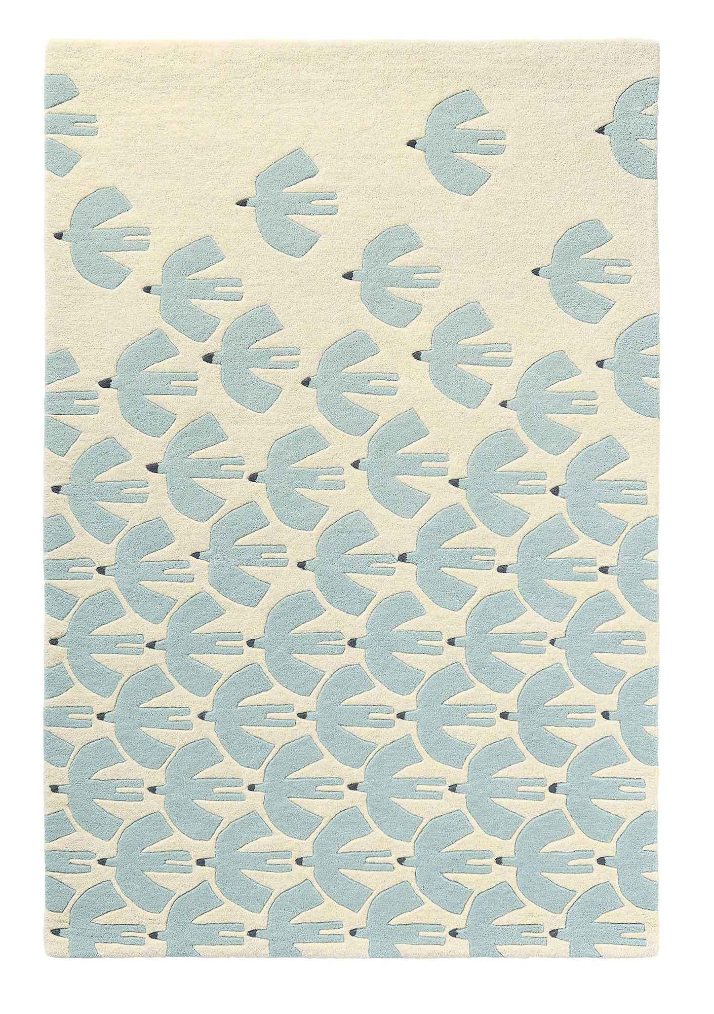 błękitno beżowy dywan dziecięcy Pajaro Mint 23909
