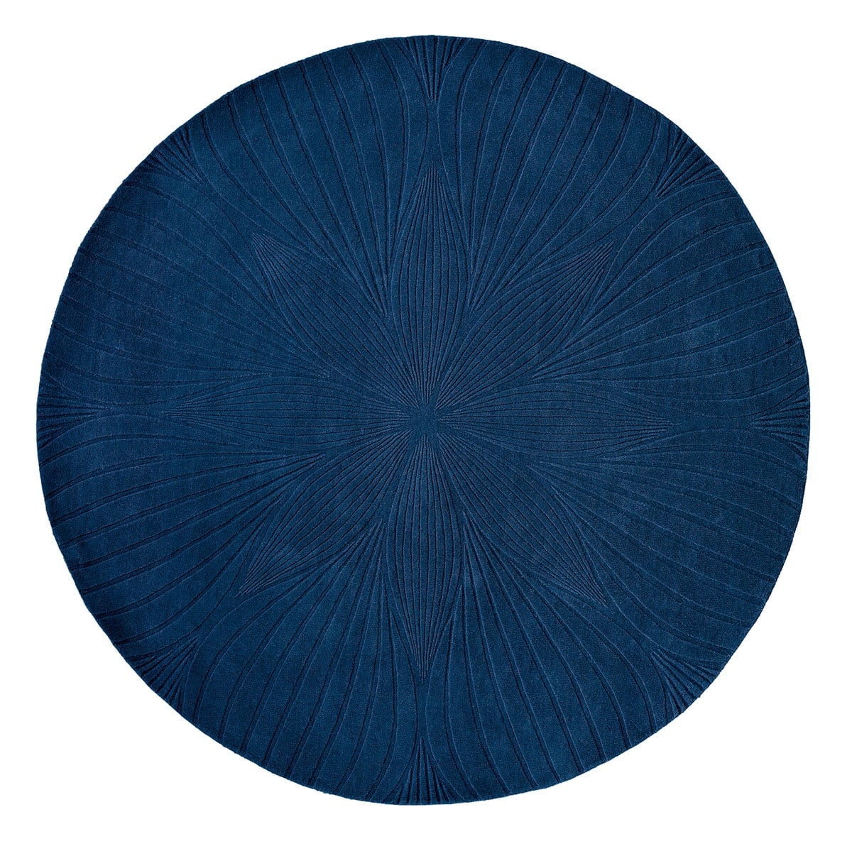 niebieski dywan okrągly Folia Round Navy 38308