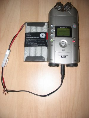 Zoom H4 battery