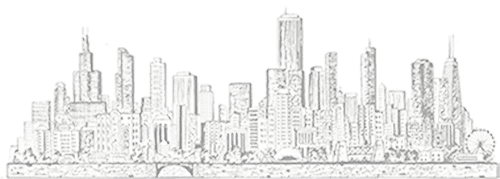 Sketch of Chicago Skyline