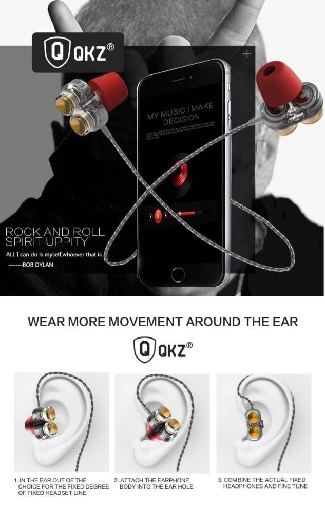 Casti QKZ KD7 in-ear Dual drive 4
