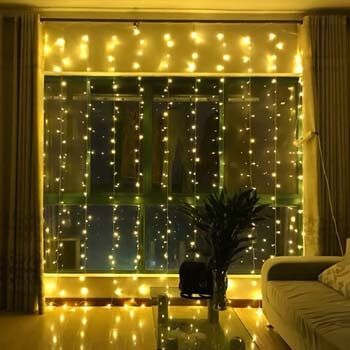 5. Brightown Window Curtain Lights, 600 Led 20 Ft Dimmable