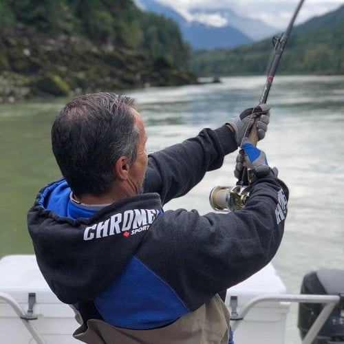 STURGEON FISHING NEAR VANCOUVER IN SEPTEMBER
