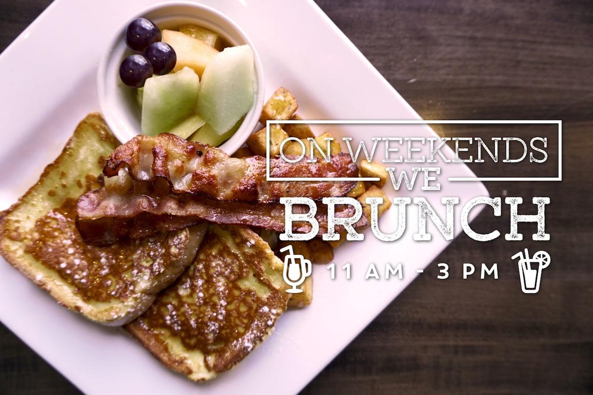 On weekends, we brunch