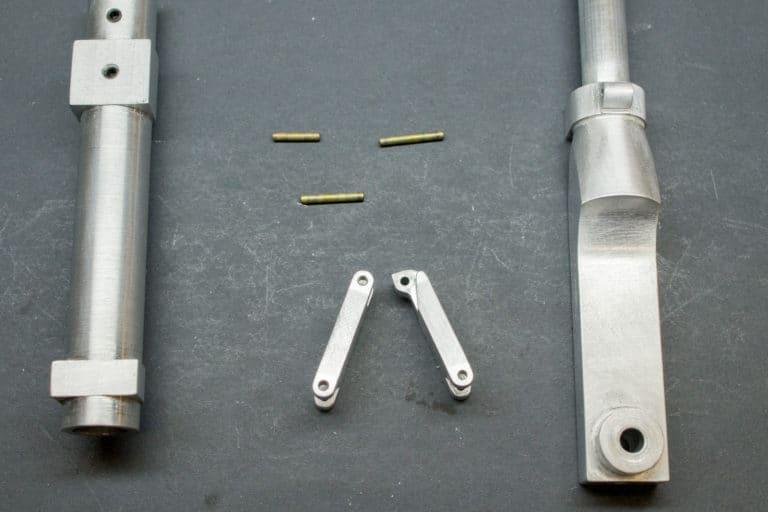 scale landing gear scissor link components